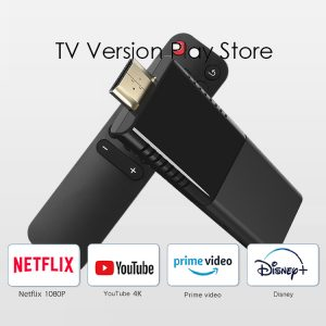 Quad Core Android 10.0 OS 2GB 16GB Dual Band Wifi OEM TV Stick Support Widevine Level 1 Key